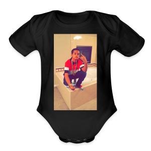 SAVAGE PANDA SWEATER - Short Sleeve Baby Bodysuit