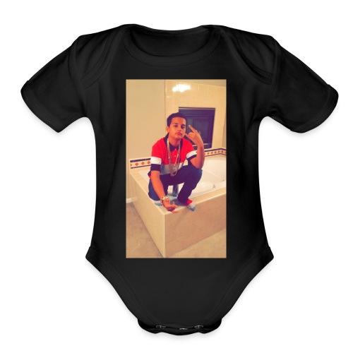 SAVAGE PANDA SWEATER - Organic Short Sleeve Baby Bodysuit