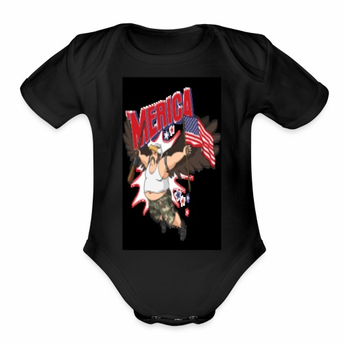 Merica - Organic Short Sleeve Baby Bodysuit