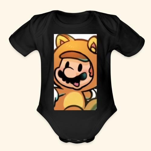 Time for Mario - Organic Short Sleeve Baby Bodysuit