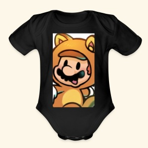 Time for Mario - Short Sleeve Baby Bodysuit