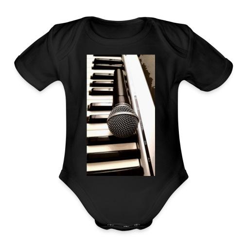Mic and keys - Organic Short Sleeve Baby Bodysuit
