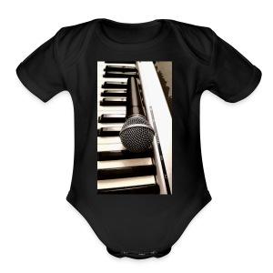 Mic and keys - Short Sleeve Baby Bodysuit