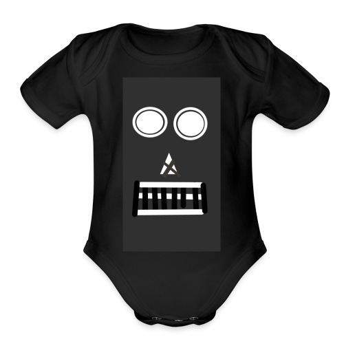 KingRay the robot - Organic Short Sleeve Baby Bodysuit