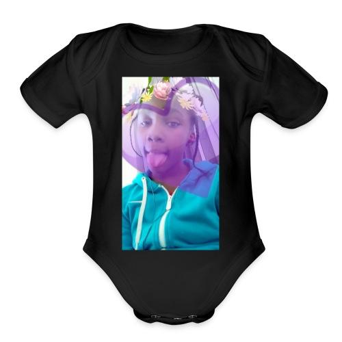 Moni snap - Organic Short Sleeve Baby Bodysuit