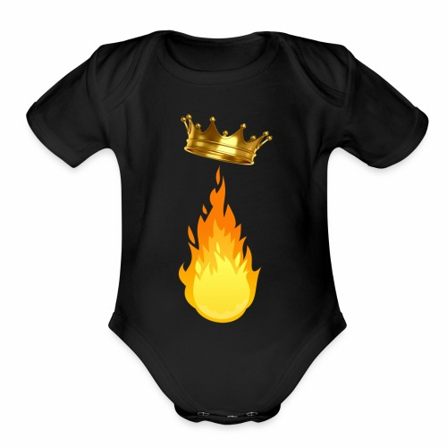 Fire King Playz Merch - Organic Short Sleeve Baby Bodysuit