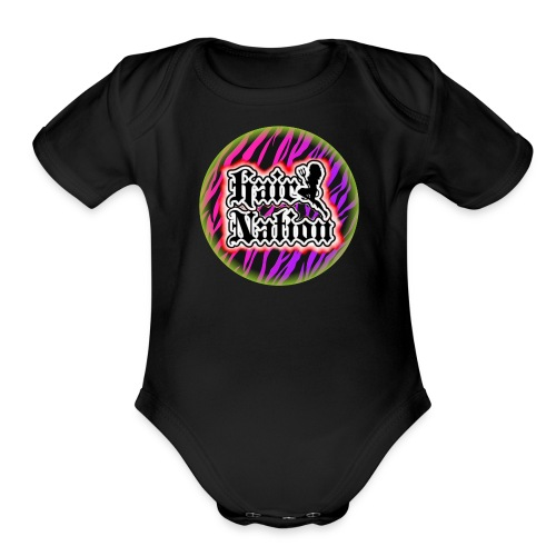 Hair Nation - Organic Short Sleeve Baby Bodysuit