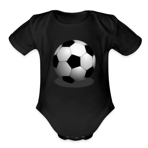 Soccer ball - Organic Short Sleeve Baby Bodysuit