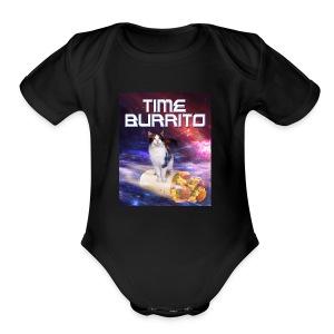 Time Burrito - Short Sleeve Baby Bodysuit
