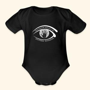 Society of Esoteric Thinkers white logo - Short Sleeve Baby Bodysuit