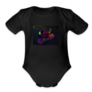 sneaker - Short Sleeve Baby Bodysuit