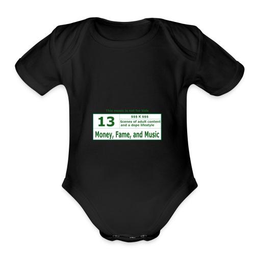 13 K Band - Organic Short Sleeve Baby Bodysuit