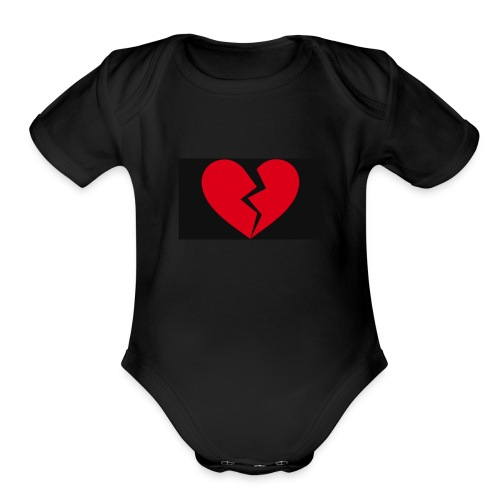 Broken heart - Organic Short Sleeve Baby Bodysuit