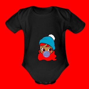 unbothered_girl - Short Sleeve Baby Bodysuit