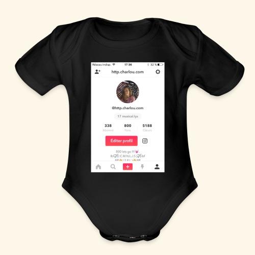 merch1 - Organic Short Sleeve Baby Bodysuit