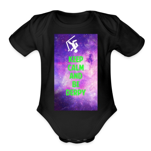 keep calm - Organic Short Sleeve Baby Bodysuit