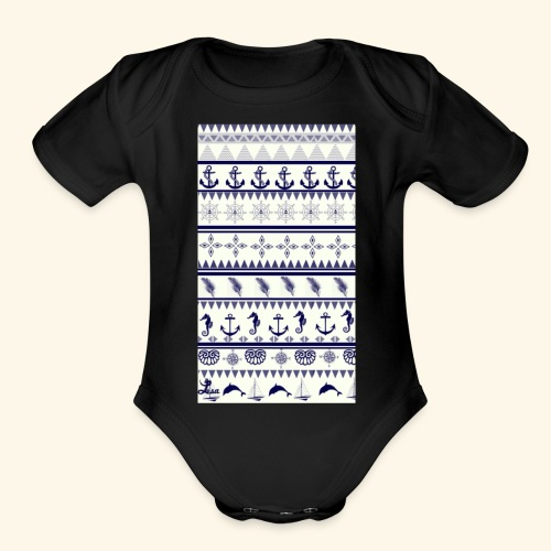 Sea - Organic Short Sleeve Baby Bodysuit