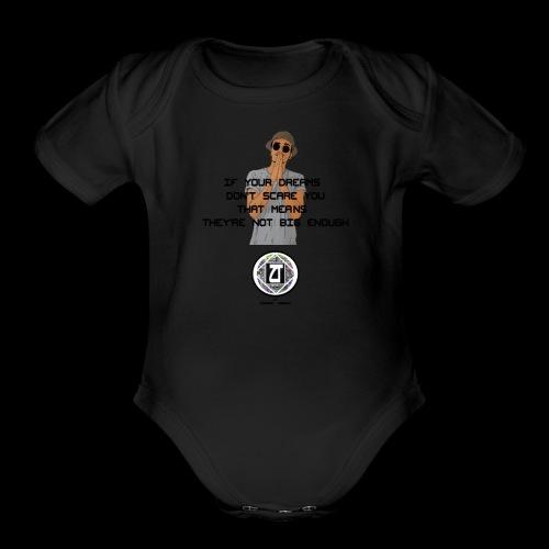 DREAM BIG - Organic Short Sleeve Baby Bodysuit