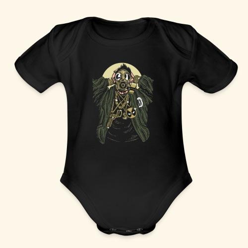 Gas mask Gangsta - Organic Short Sleeve Baby Bodysuit