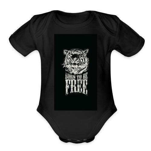 Free - Organic Short Sleeve Baby Bodysuit