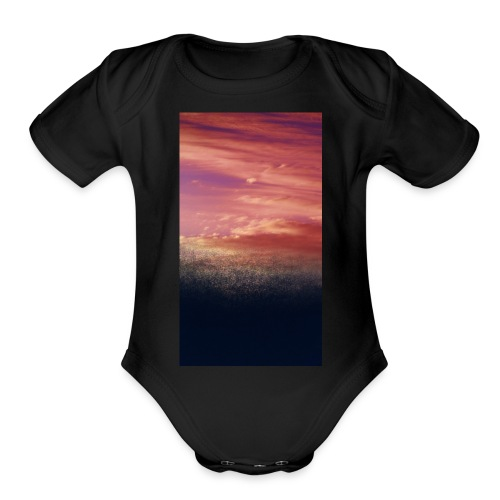 sunset - Organic Short Sleeve Baby Bodysuit
