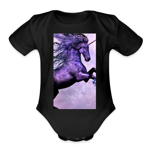 Unicorn - Organic Short Sleeve Baby Bodysuit