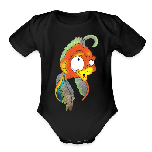Cora Icon Mascot - Organic Short Sleeve Baby Bodysuit