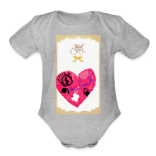 Heart of Economy 1 - Organic Short Sleeve Baby Bodysuit