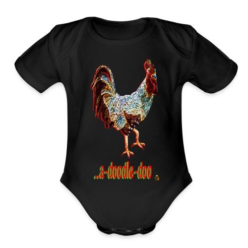 A Doodle Doo - Organic Short Sleeve Baby Bodysuit