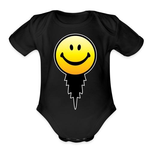 chicksdigitlogoclrs - Organic Short Sleeve Baby Bodysuit