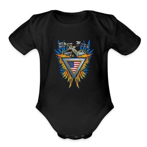 Born Free - Organic Short Sleeve Baby Bodysuit