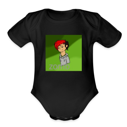 zomb is nere - Organic Short Sleeve Baby Bodysuit
