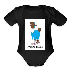 PAJAMA LLAMA - Short Sleeve Baby Bodysuit