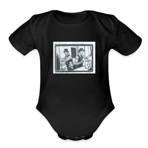 behind the bar - Organic Short Sleeve Baby Bodysuit