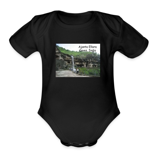 most famous landmarks - Organic Short Sleeve Baby Bodysuit