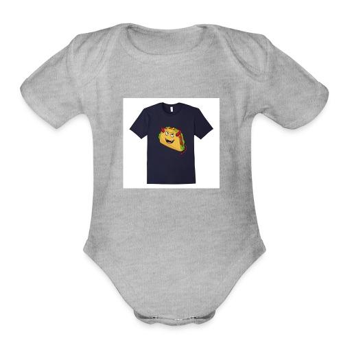 evil taco merch - Organic Short Sleeve Baby Bodysuit