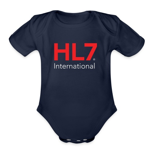 HL7 International Logo - Reverse - Organic Short Sleeve Baby Bodysuit