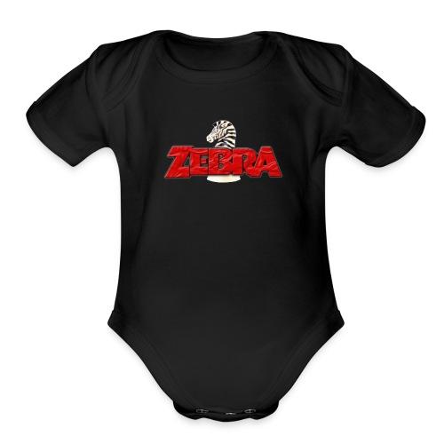 Zebra No Tellin Lies band - Organic Short Sleeve Baby Bodysuit