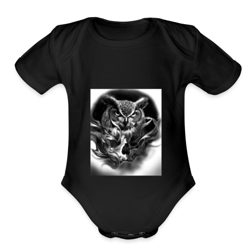 Owl of death - Organic Short Sleeve Baby Bodysuit