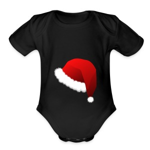Carmaa Santa Hat Christmas Apparel - Short Sleeve Baby Bodysuit