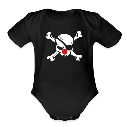 Clown Jolly Roger Pirate - Organic Short Sleeve Baby Bodysuit