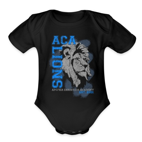 ACA_Lion_Prod_ss - Organic Short Sleeve Baby Bodysuit