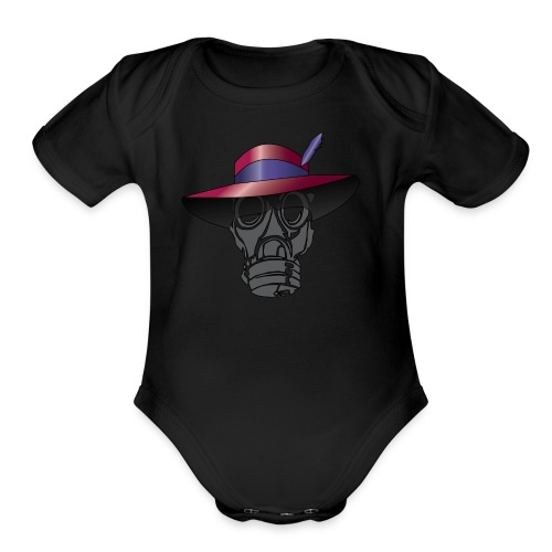 Zoot suit Hat and Gas Mask - Organic Short Sleeve Baby Bodysuit