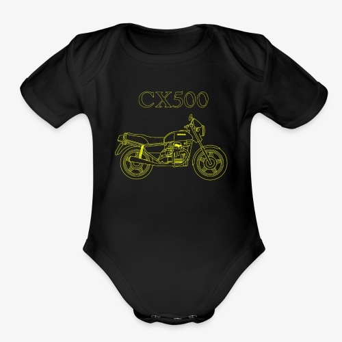CX500 line drawing - Organic Short Sleeve Baby Bodysuit