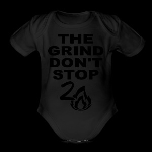 Grind Don't Stop - Short Sleeve Baby Bodysuit