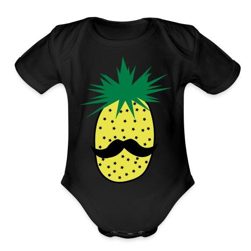 LUPI Pineapple - Organic Short Sleeve Baby Bodysuit