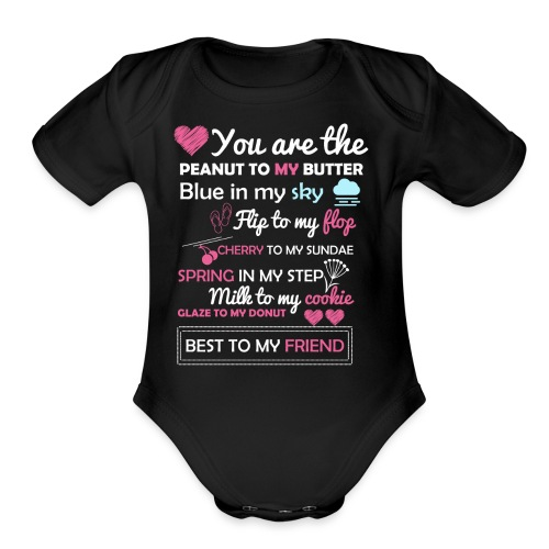 A gift to make your loved ones smile!! :) - Organic Short Sleeve Baby Bodysuit
