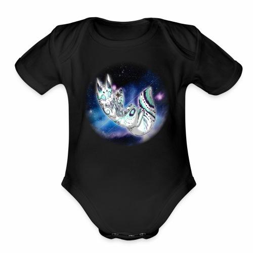 Moki Space Cat - Organic Short Sleeve Baby Bodysuit