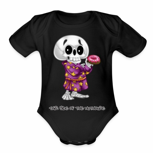 Lichs Love Donuts - This Side of the Nuthouse - Organic Short Sleeve Baby Bodysuit