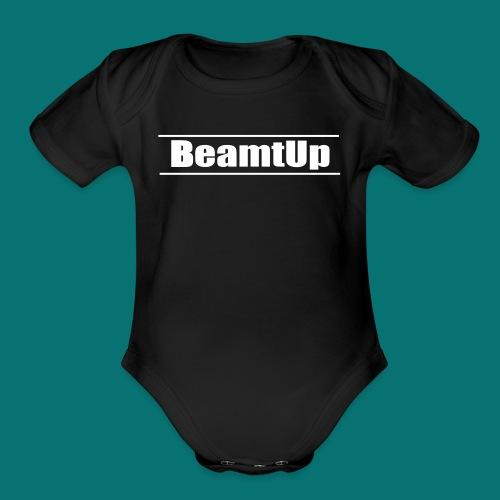 Original BeamtUp Logo - Organic Short Sleeve Baby Bodysuit